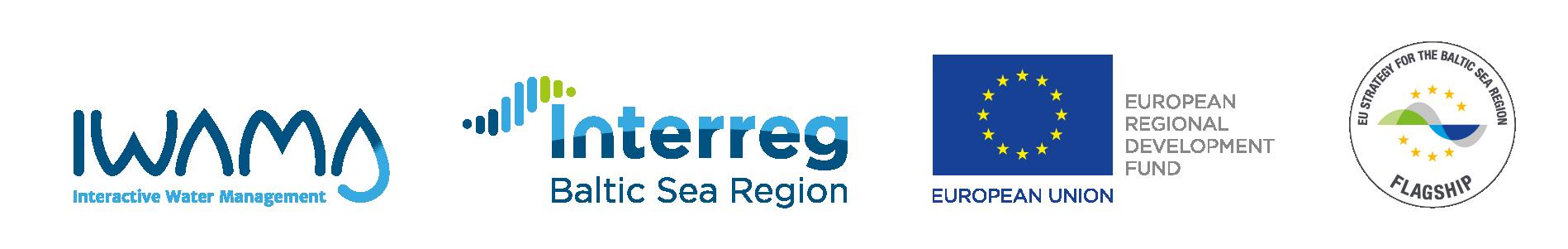 IWAMA project, Interreg BSR and EU flag