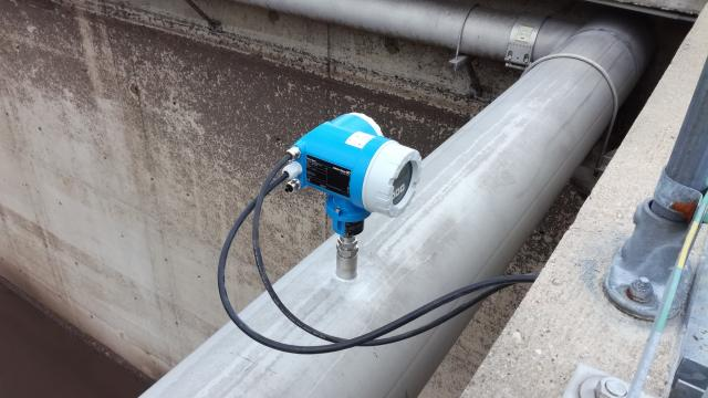 Air flow meter mounted in aeration pipe