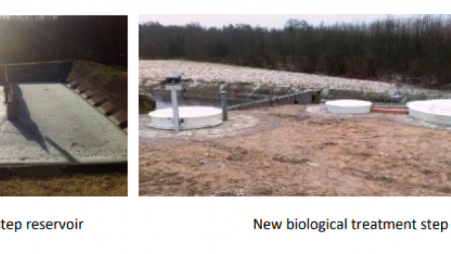 Leitgiriai WWTP biological treatment before and after
