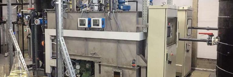 Fast clarification plant