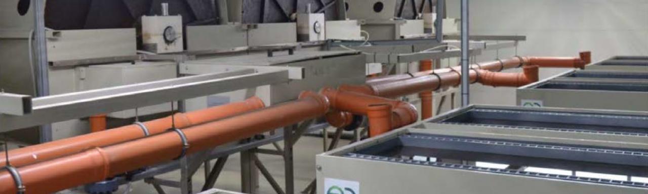 Biofilters (Biorotors) and secondary settling tanks