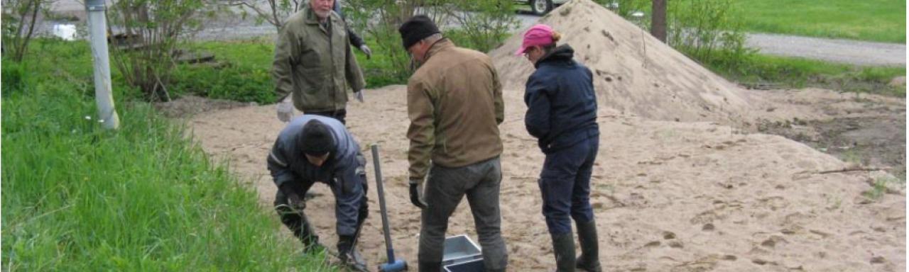 Construction of Nurmijärvi pilot soil filtration system